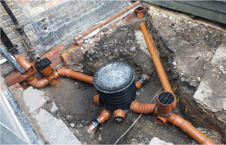 Direct cladding supplies ltd underground drainage pipes for Underground drainage layouts